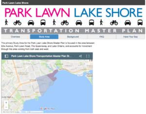 Park Lawn Lake Shore Transportation Master Plan